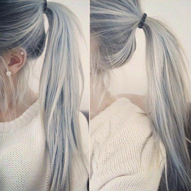 Gray Hair Ponytail Grey Hair Or Granny Hair Hair Hair Styles