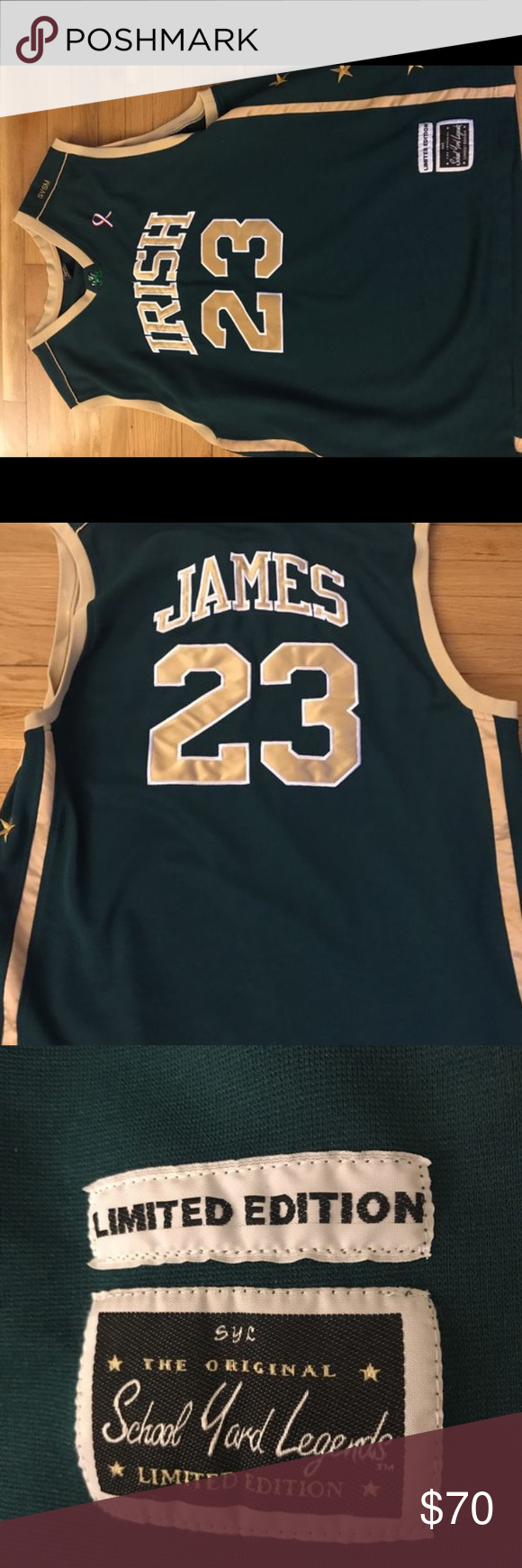 new arrival 073f1 2532e Authentic Lebron James High School Jersey X XL. Everything ...