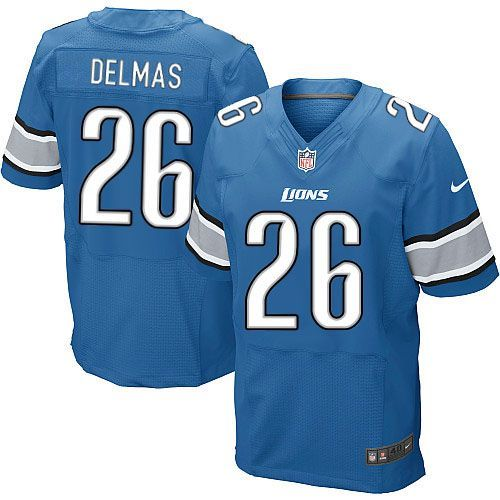men nike detroit lions 26 louis delmas elite light blue team color nfl jersey sale
