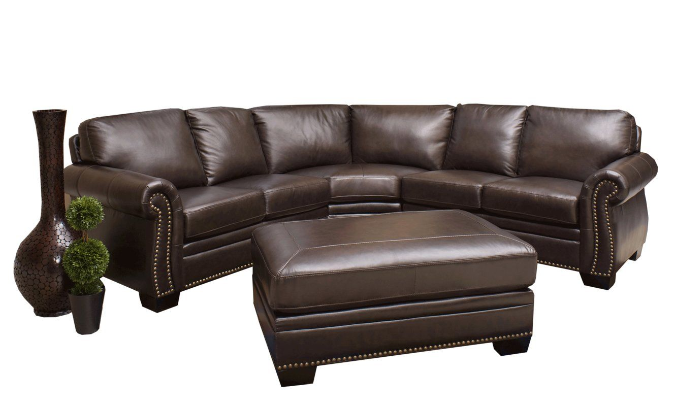 Barnabas Leather 142 Symmetrical Sectional Sectional Sofa Couch Sectional Genuine Leather Sectional