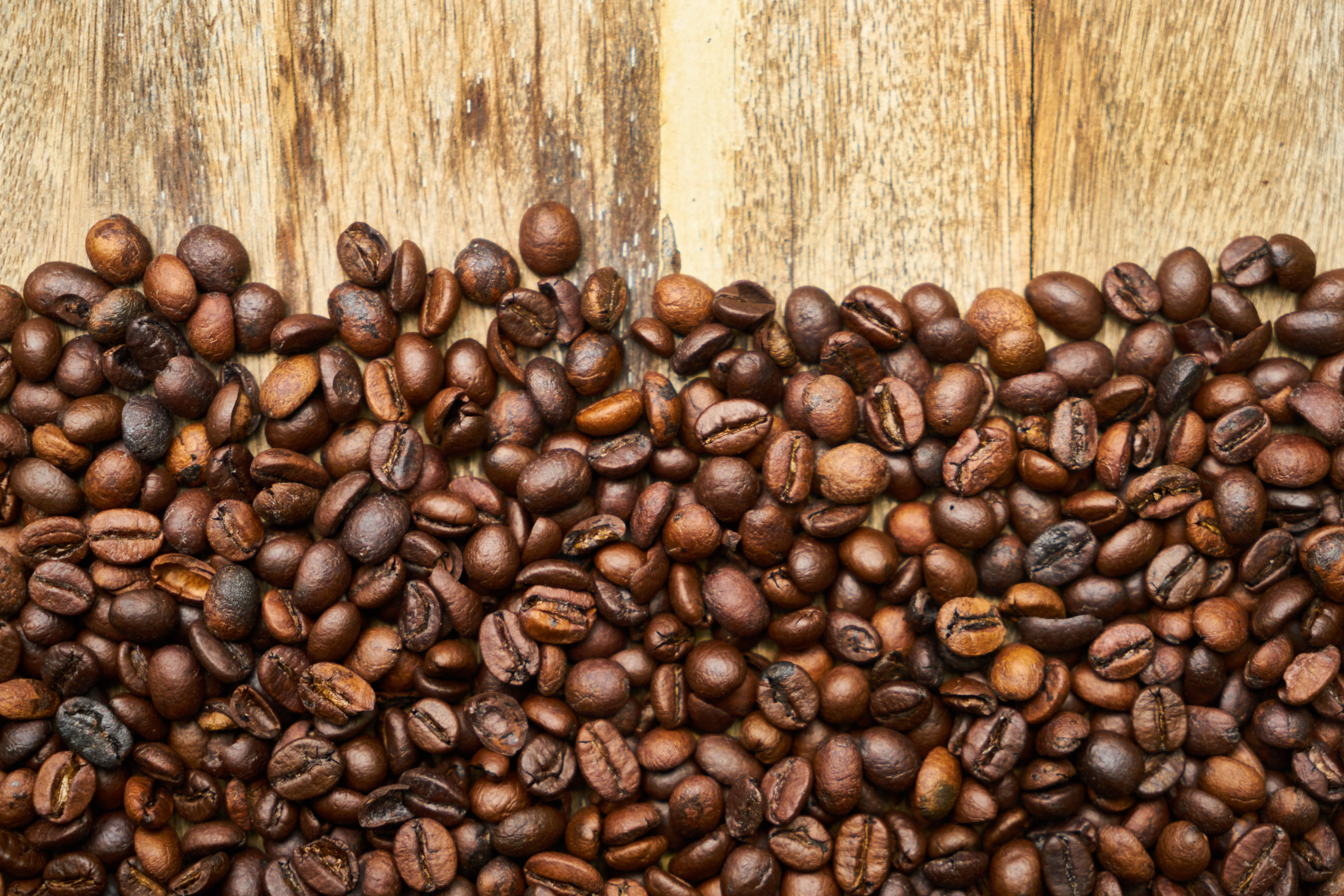 Coffee Beans Lot Coffee Beans Coffee Surface 5k Wallpaper