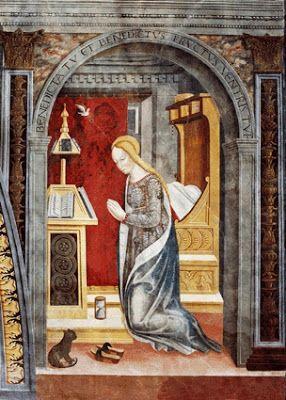 Giovanni Pietro da Cemmo -  Annunciazione - 1491 circa - Chiesa di S.Marie di Esine, in Val Camonica. (Brescia, Italia)