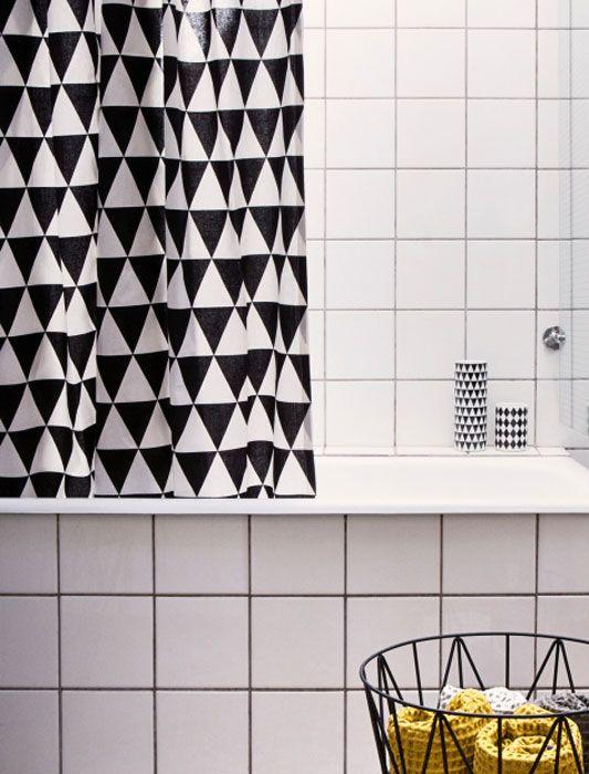 Scandinavian Design, Ferm Triangle Shower Curtain