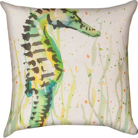 Painted Sea Life Throw Pillow