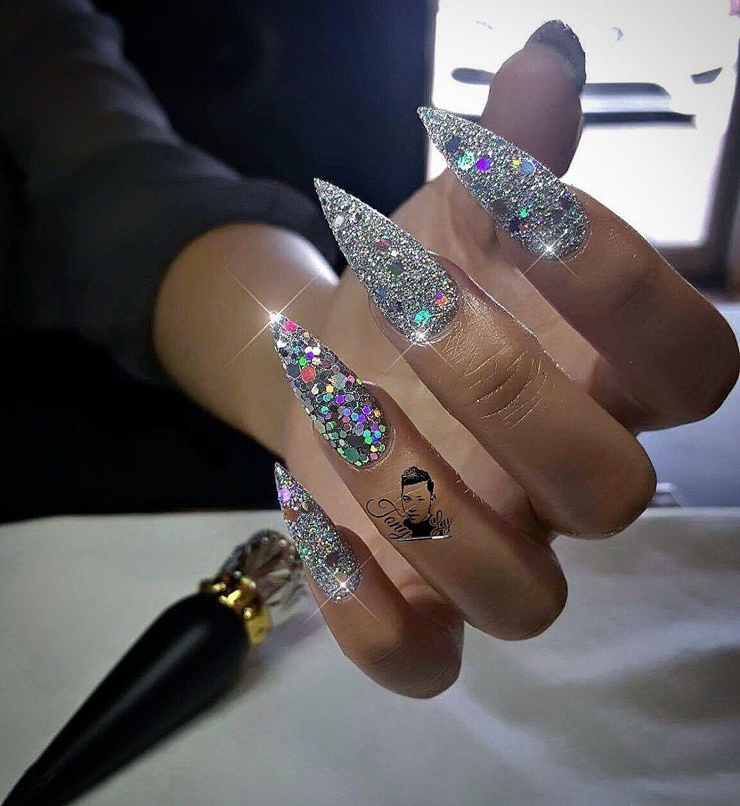 Glitter nails   Stiletto Nails!! Stiletto Nails!!   Pinterest ...