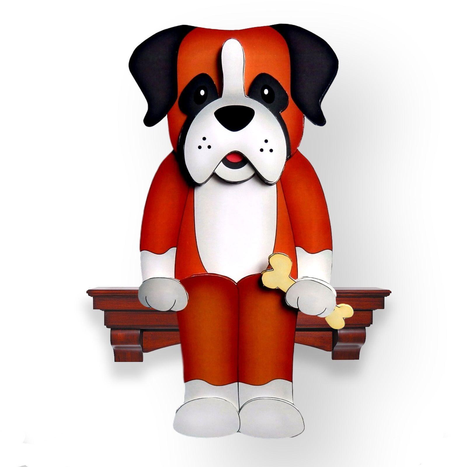 Fathers Day Boxer Dog Bruiser  3D Shelf Card Blank SC78 Birthday