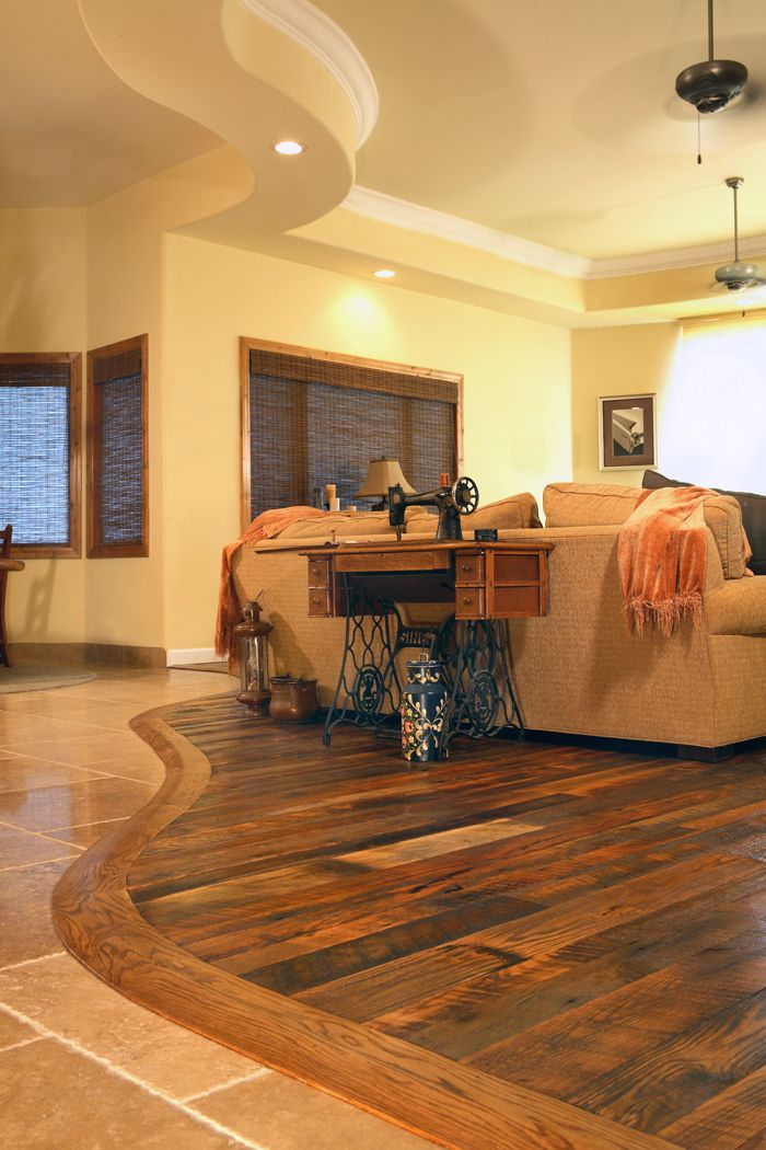 I M Totally Sure We Will Have Two Types Of Flooring Next To Each Other Like This Love The Idea