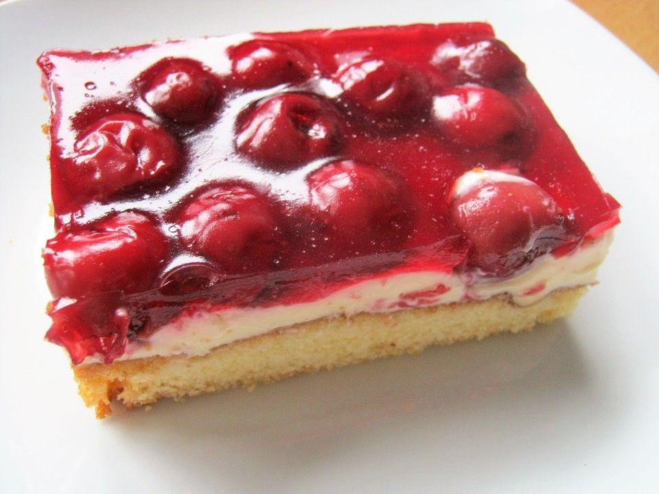 Kirsch Schmand Blechkuchen Kuchen Pinterest Desserts Cake