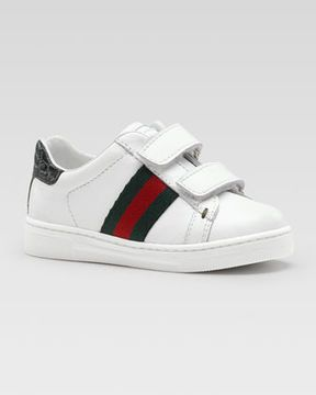 188168bef Gucci Ace Double-Strap Sneaker, White, Toddler | Boys Clothes