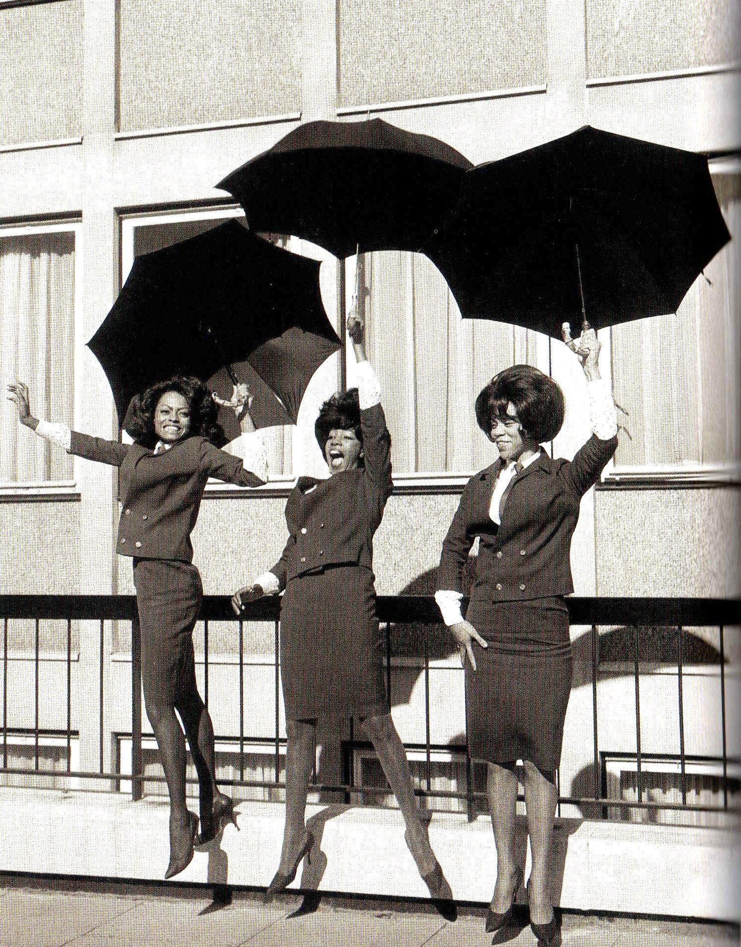 American singing group 'The Supremes' outside EMI House in London