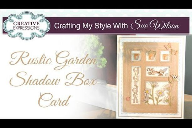 Rustic Garden Shadow Box Card (PartiCraft (Participate In Craft)) is part of Rustic garden Boxes - Hi bloggers! The In The Garden Shadow Box die set is a great one to use for any of your friends that enjoy gardening as a hobby  Today's video shows you how to use Kraft card and a white pencil to g