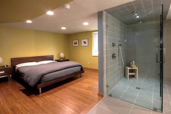 17 best images about bedroom ideas on pinterest modern living rooms wire shelving and search - Master Bedroom With Bathroom Design