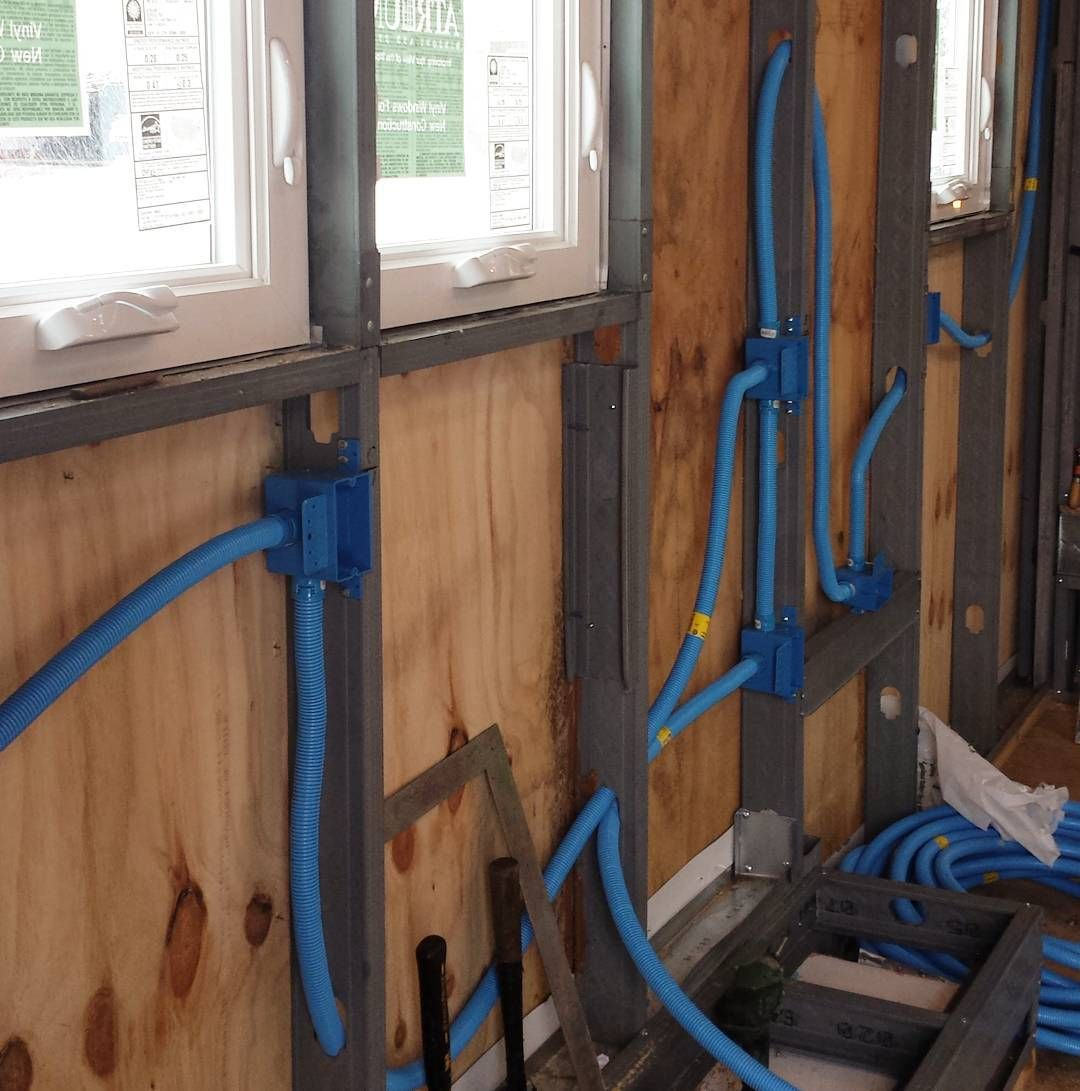 small resolution of  smurf tubing so we have access to our electrical after the spray foam is in tinyhome tinyhouse avoidingfutureproblems