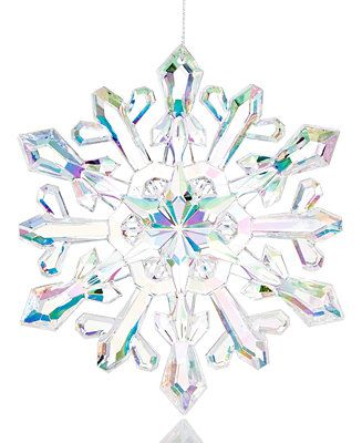 Holiday Lane Iridescent Snowflake Ornament Only At Macy S Holiday Lane Macy S Christmas Backdrops Snowflake Ornaments Iridescent