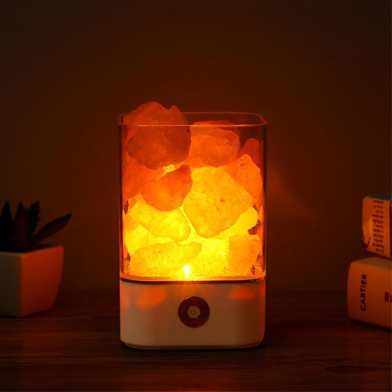 Himalayan Crystal Salt Lamp With Images Natural Himalayan Salt