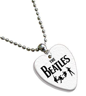 The Beatles Love Heart Guitar Pick Collier