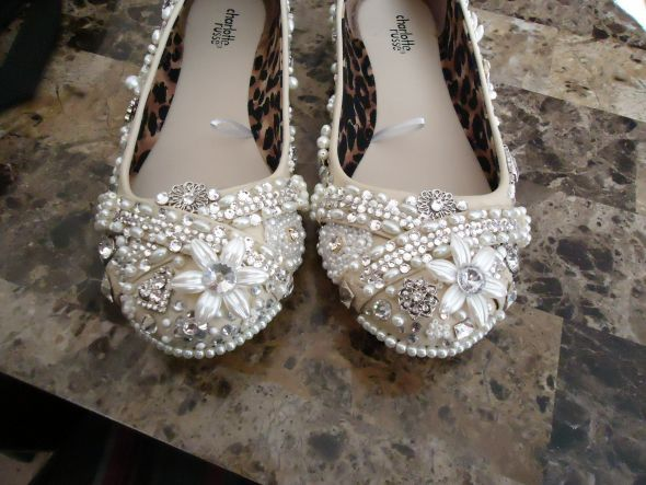 diy embellished flats
