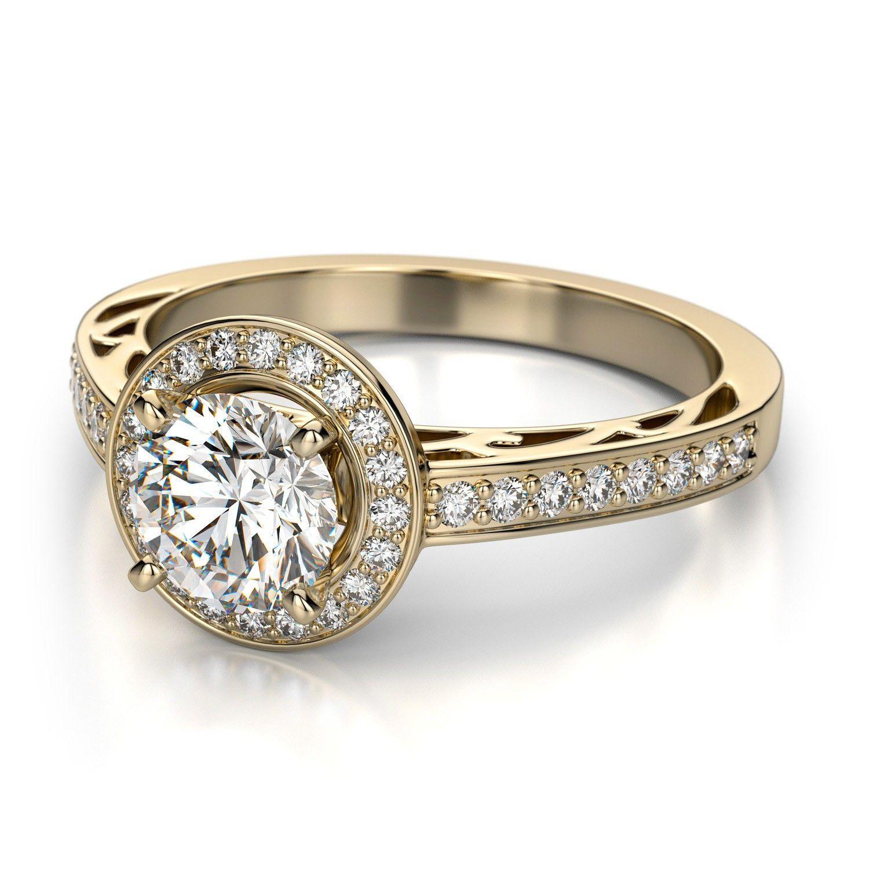 vintage yellow gold diamond engagement ring   rings   pinterest
