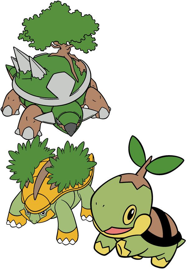 Turtwig Grotle Torterra 387 389 Evolutions To Be A Master