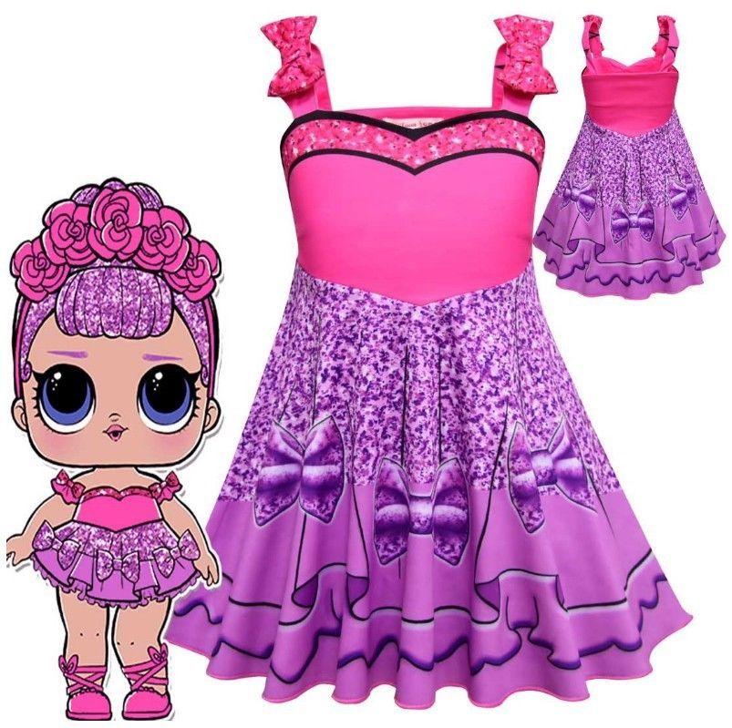 a95bac8e8d1d6 2018 L.O.L Doll Surprise Costume Kids Girls Dress Party Fancy ...