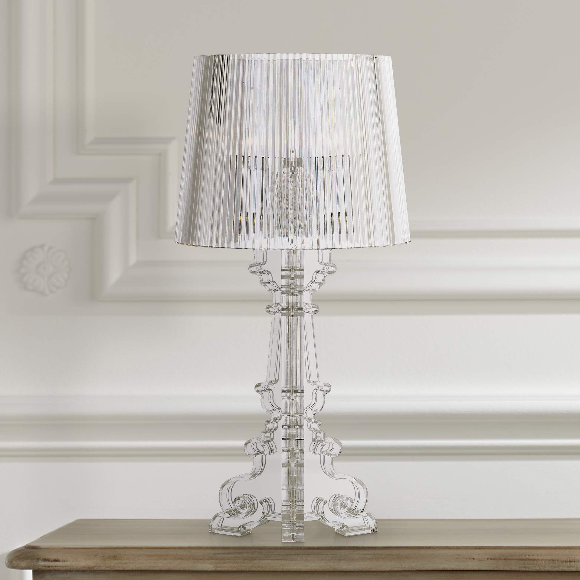"""Baroque Clear Acrylic 20"""" High Accent Table Lamp - #97645"""