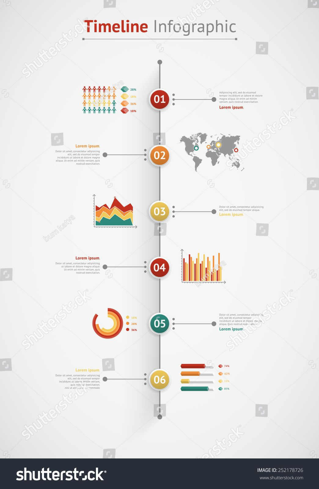 Timeline vector infographic world map theory pinterest infograma timeline vector infographic world map gumiabroncs Images