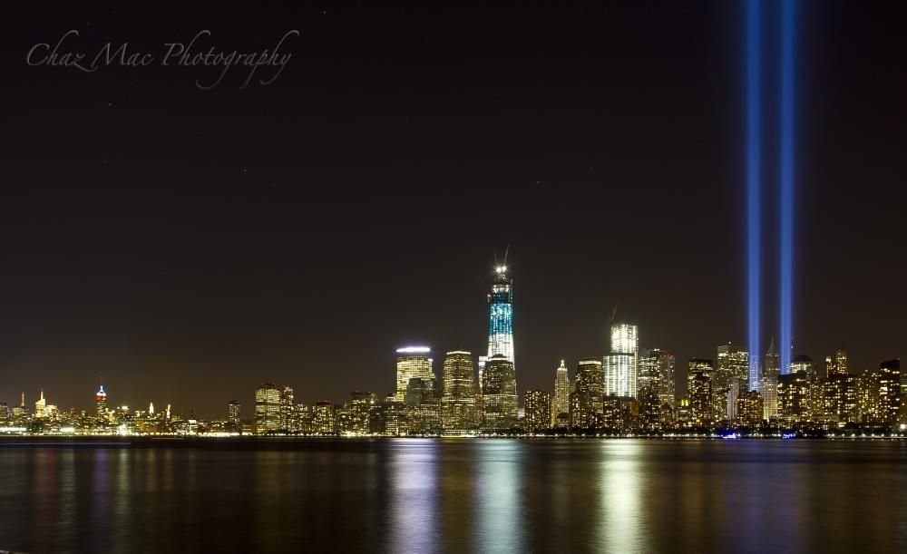 NYC Skyline Tribute In Lights By Charliemacc Photography - Two beams light new yorks skyline beautiful tribute 911