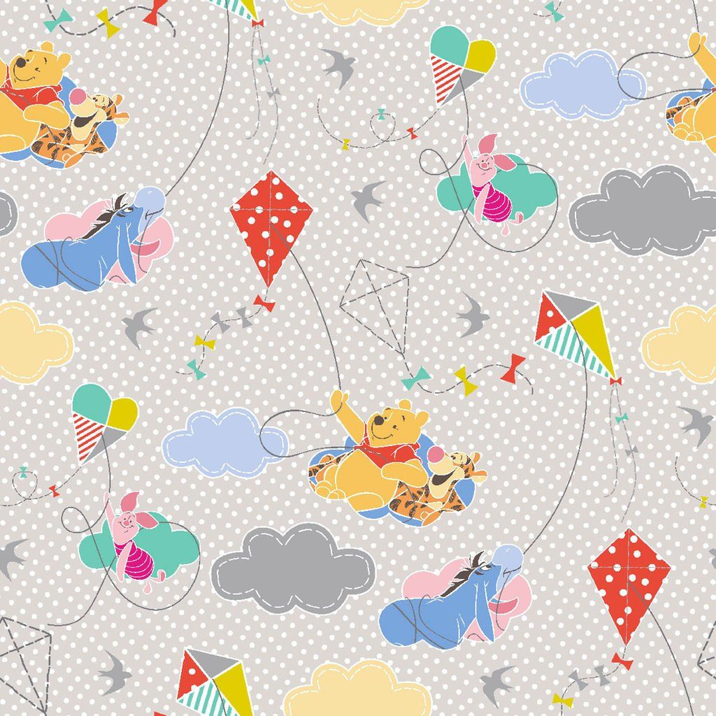 """Winnie The Pooh 100/% Cotton Fabric 43//44/"""" Wide"""
