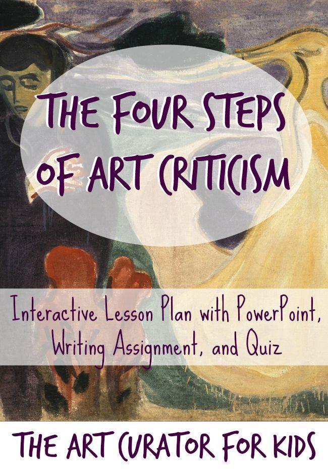 Art Criticism Introduction Worksheets Pinterest