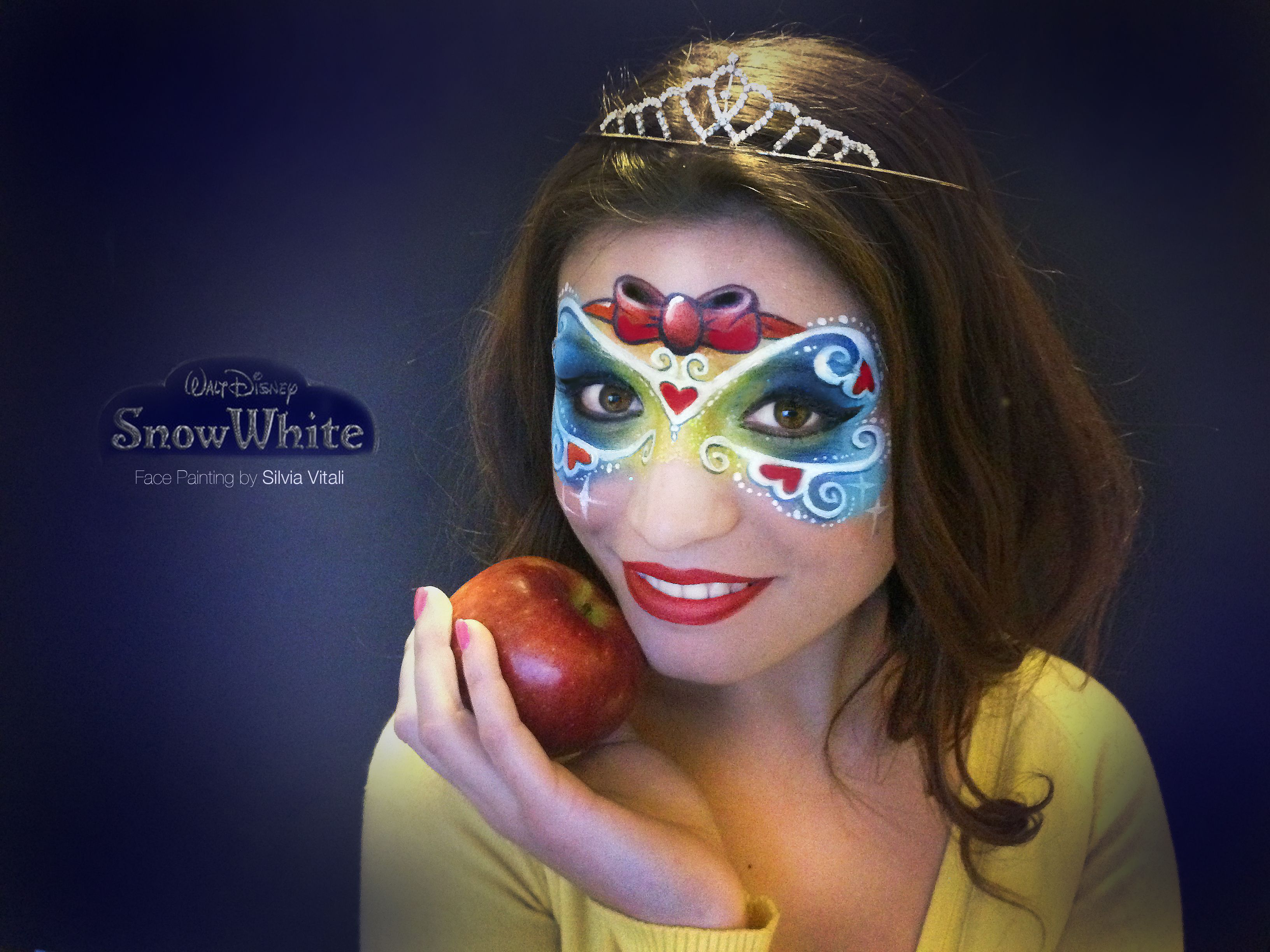 Snow White Biancaneve Face Painting By Silvia Vitali