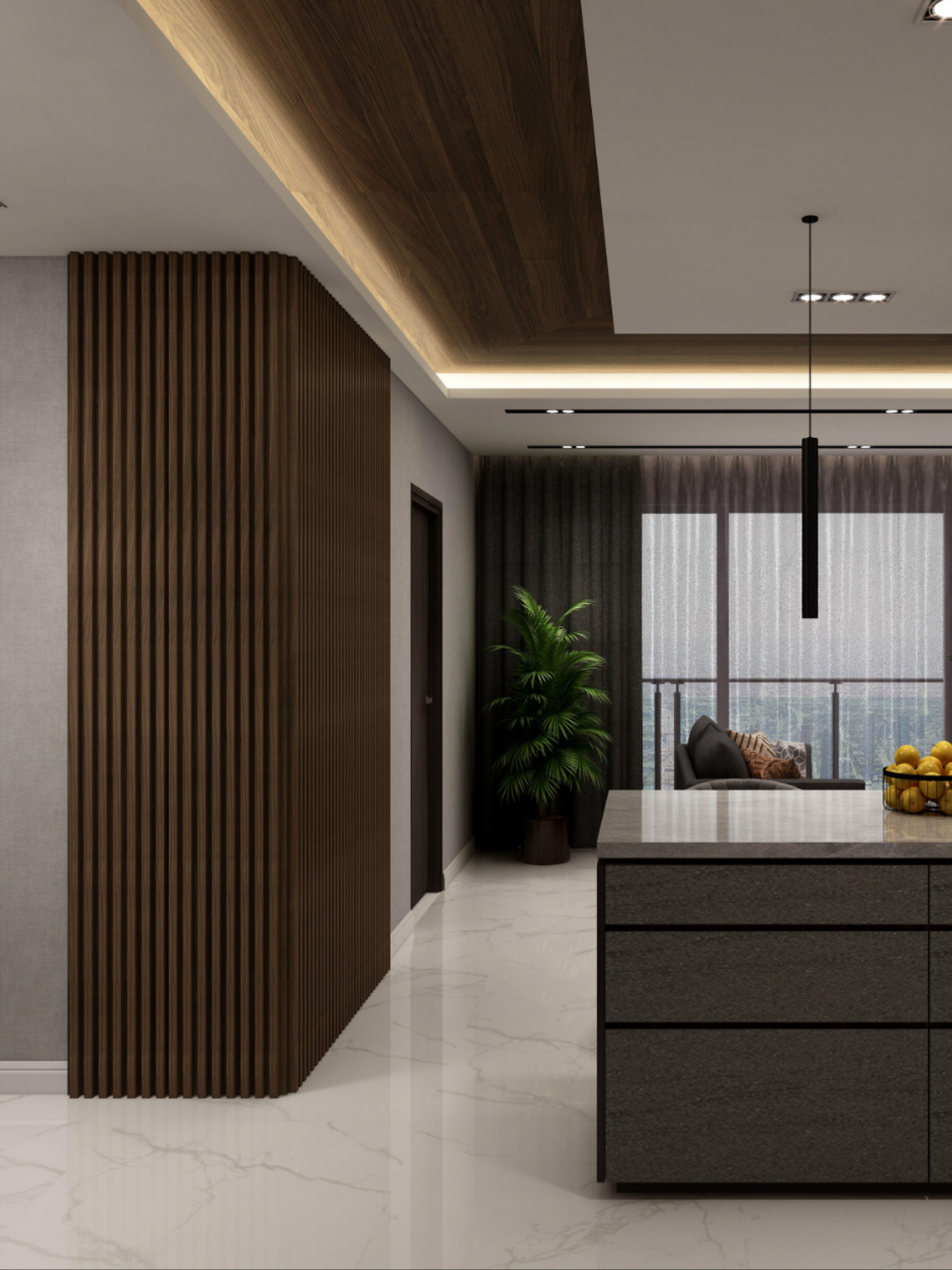 Wood Apartment Interior Design Queen S Peak Condo In 2021 Wood Cladding Interior Condo Interior Design Modern Wall Paneling