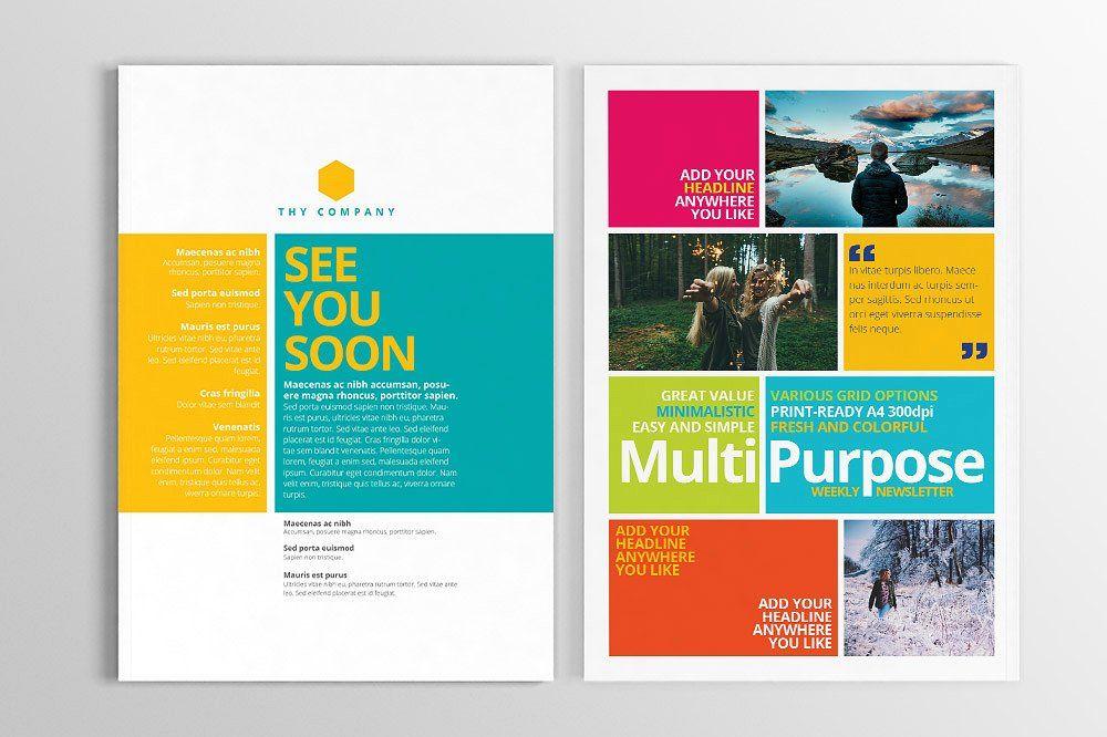 Multipurpose Print Newsletter Newsletter Design Print