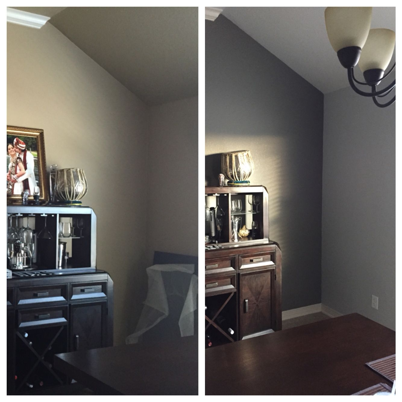 Before And After Paint Paint Is Sw Tinsmith Sw Extra White Sw Gauntlet Gray Home Decor Home Decor