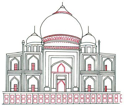 How To Draw The Taj Mahal In 5 Steps With Images Taj Mahal