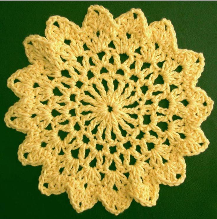 Free Crochet Dishcloth Pattern Sunflower By Drew Emborsky Aka The
