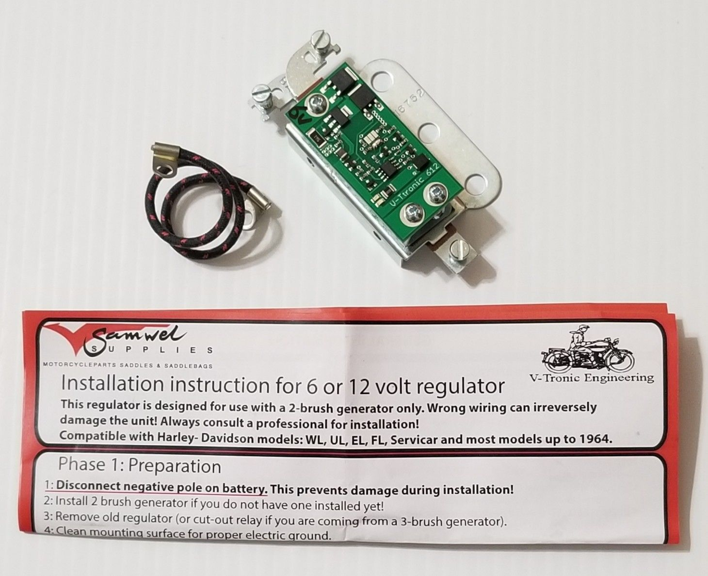 Harley Davidson Re Pro Special 6 Volt Cut Out Relay For 1938 1957 3 To 12