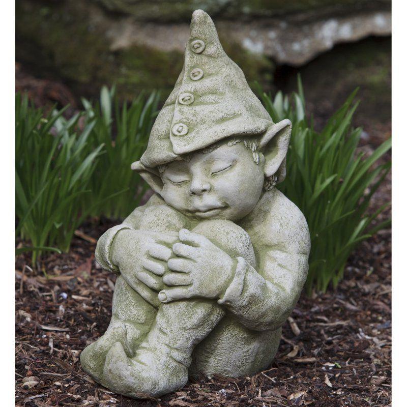 Campania International Galen The Elf Cast Stone Garden Statue   S 351 AL