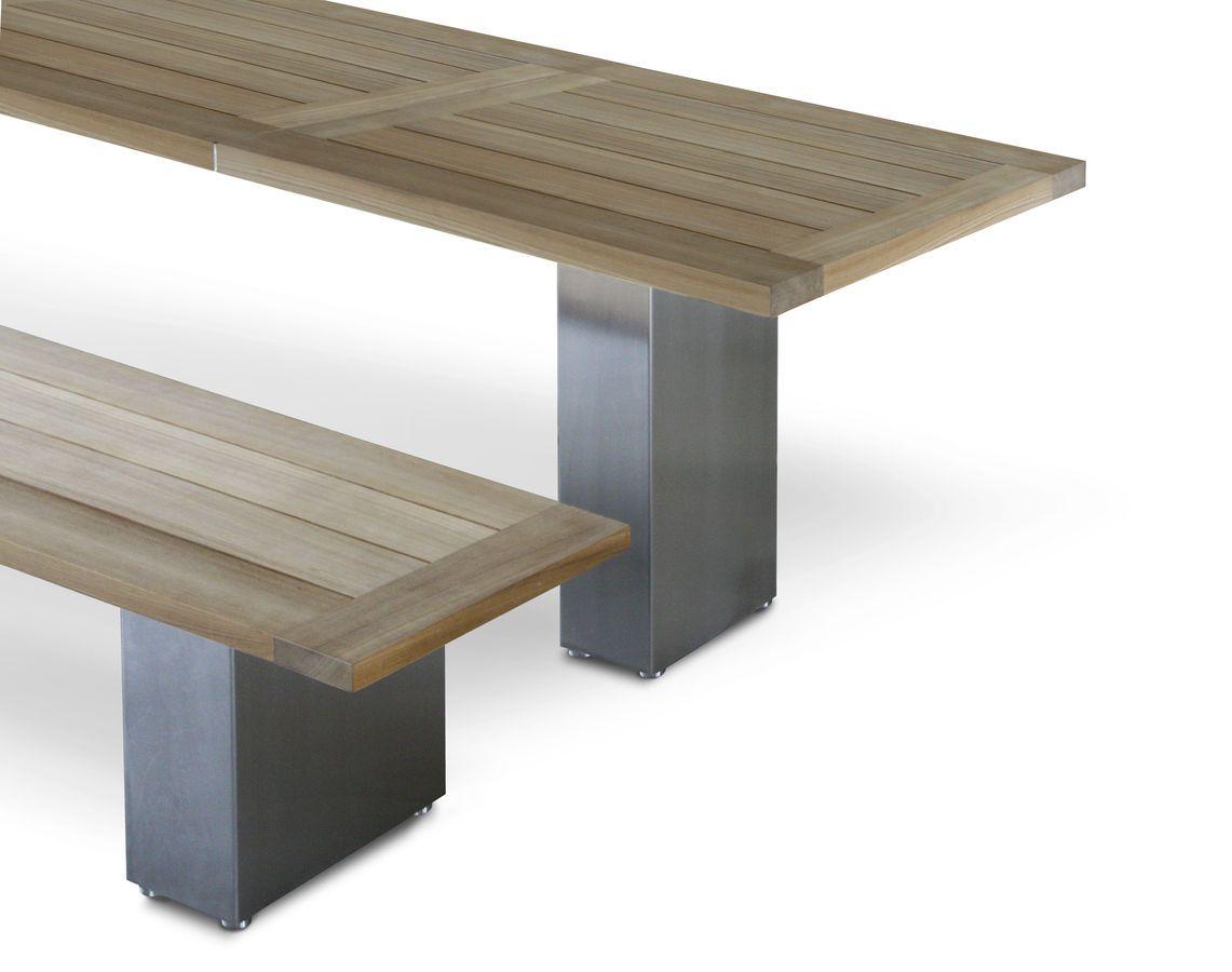 Moderne Gartenbank moderne gartenbank teak doble bench 160 teak fueradentro garden