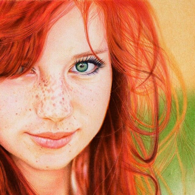 "Nope, not a photograph. This is an amazing portrait drawn by 29-year-old Portugal-based attorney Samuel Silva (he says art is just his ""hobby"") based on a photograph by Russian photographer Kristina Tararina. Silva's medium of choice is standard Bic ballpoint pens on paper and this particular portrait uses eight different colors, taking some 30 hours to complete   http://vianaarts.deviantart.com/gallery/"