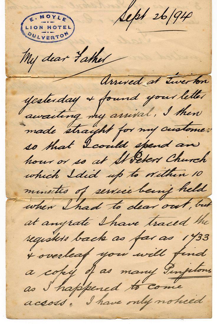Beautiful Old Fashioned Vintage Handwriting