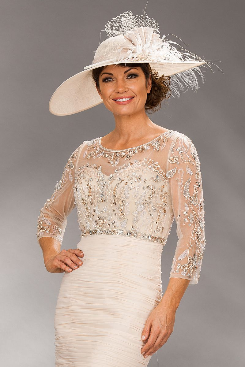 Cream lace short dress outfit for wedding