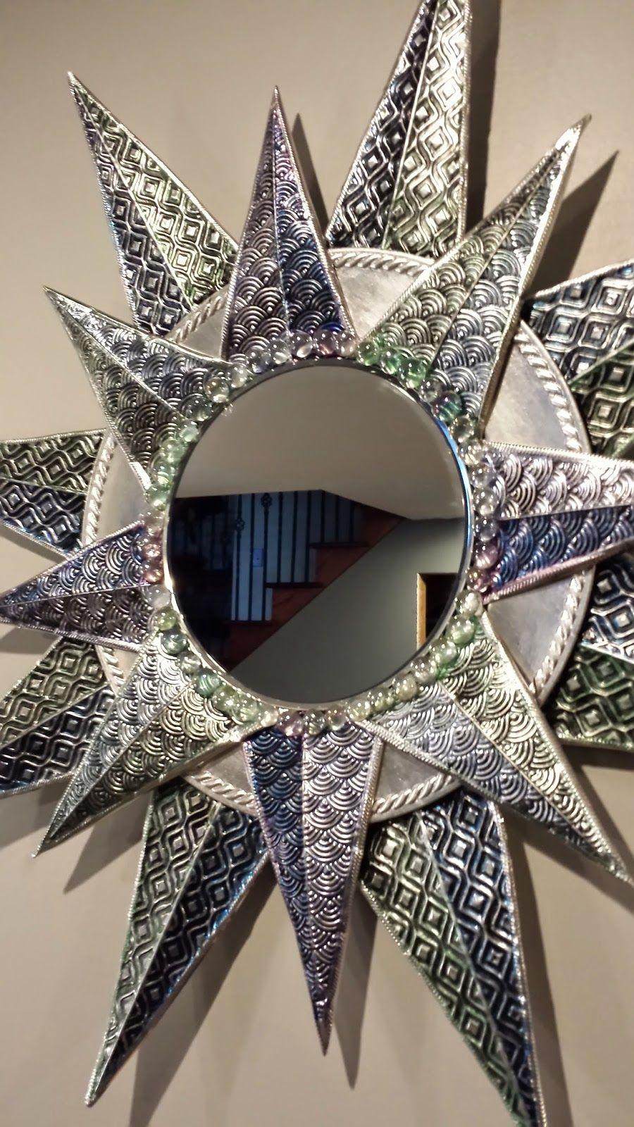 DIY - Charger Plate Metal Embossed Sunburst Mirror