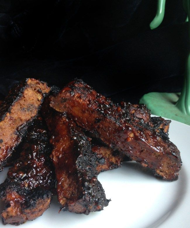 Vegan bbq ribs seitan with spicy korean or spicy traditional bbq vegan bbq ribs seitan with spicy korean or spicy traditional bbq sauce forumfinder Image collections