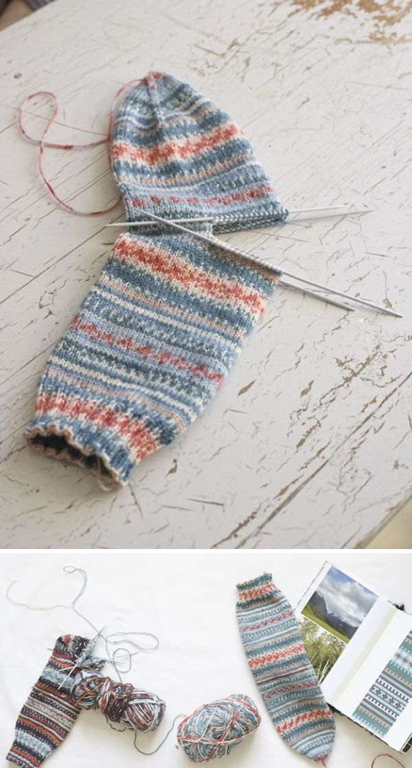 Beautiful Skills - Crochet Knitting Quilting : How To Knit The Easiest Sock In The World - Free Pattern - Knitting Socks