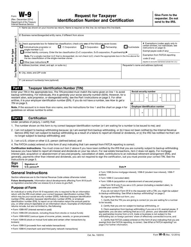 Downloadable W9 Form 2015 W 9 Tax Form 2017 2018 Fill Out Line Download Free Pdf Irs Forms Tax Forms Fillable Forms