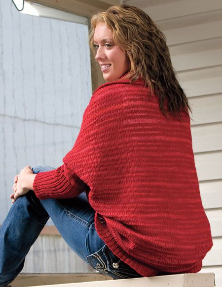 Cozy Cocoon Shrug Pattern - Knitting Patterns and Crochet Patterns ...