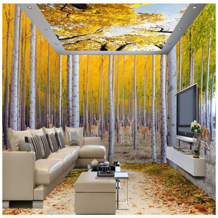 Fantastic Autumn Living Room Interior Decorating Ideas with 3D ...