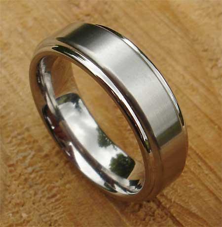 Mens Designer Titanium Wedding Ring Titanium wedding