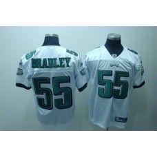 Eagles  55 Stewart Bradley White Stitched NFL Jersey  b0efc0dba