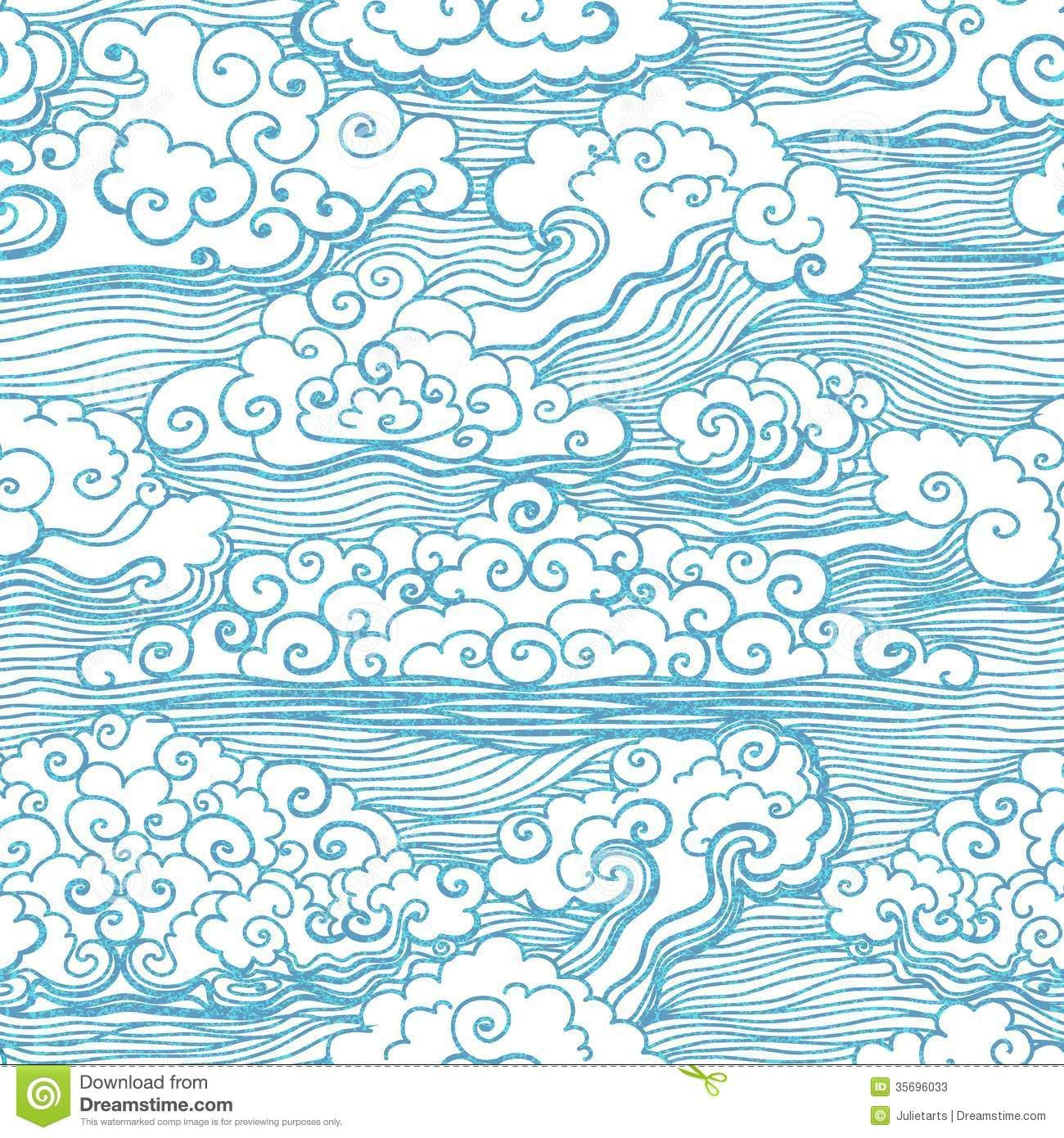 seamless pattern with clouds vector eps 10 download